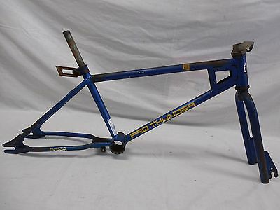 "Vtg 1980 20"" Huffy Pro Thunder BMX Frame Fork Blue Old School-GT-DYNO-HARO-ELF-"