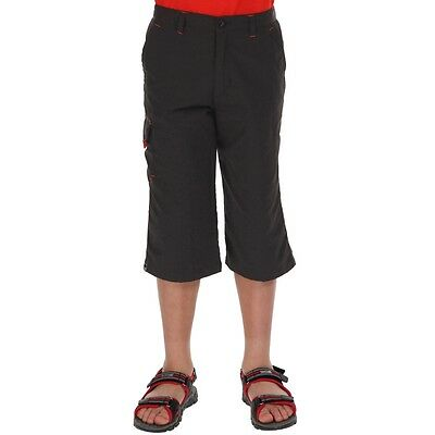 Regatta Adventure Tech Enfants Gris Sorcer Capris Collant Capri Leggings Sport