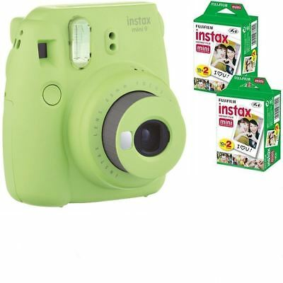 Bundle: Fuji Instax Mini 9 Lime Green Instant Film Camera +  40 Shots