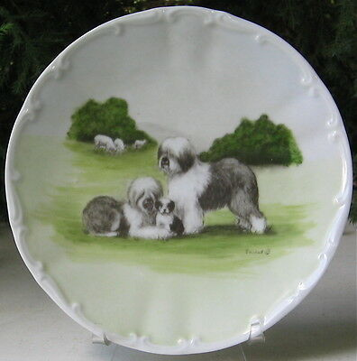Vintage Old English Sheepdog Limited Edition Collectors Plate