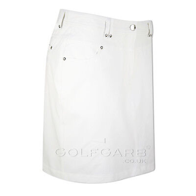 Green Lamb Jeans-Style Skort with UV Protection in White