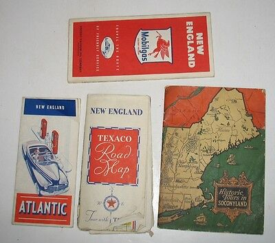 lot of 4 Vintage 1920's & later Gas Station Road Maps & Booklets Atlantic Socony