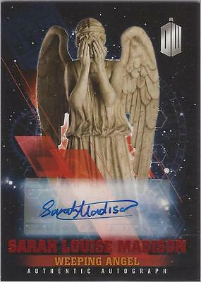 """Doctor Who Timeless - Sarah Madison """"Weeping Angel"""" Red Autograph Card #08/10"""
