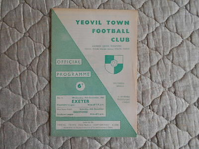1965/66 Yeovil V Exeter Western Counties Floodlit League Match Programme