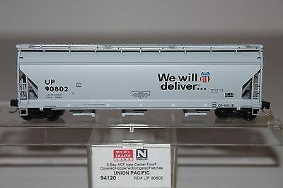 N Scale MTL 94120 Union Pacific 3-Bay Covered Hopper 90802