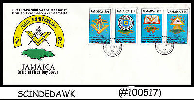 JAMAICA 1992 250th Ann. 1st Provincial Grand Master of English Free Masonry FDC