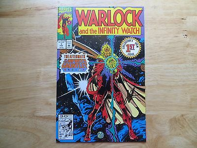 1992 Vintage Warlock & The Infinity Watch # 1 Signed Jim Starlin Art, With Poa