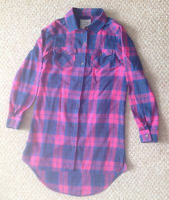 Girl's Next Long Sleeve Check Shirt  - Size 12 Years (Mint Condition)