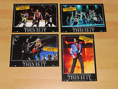 THIS IS IT - set of 4 lobby cards ´09 - MICHAEL JACKSON