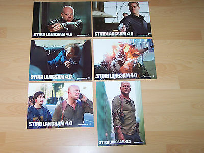 LIVE FREE OR DIE HARD - set of 6 lobby cards ´07 - BRUCE WILLIS Justin Long