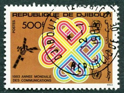 DJIBOUTI 1983 500f SG883 used NG World Communications Year a #W30