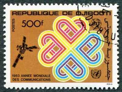 DJIBOUTI 1983 500f SG883 used NG World Communications Year b #W30