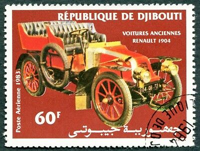 DJIBOUTI 1983 60f SG886 used NG Early Sports Car Renault 1904 AIRMAIL #W30