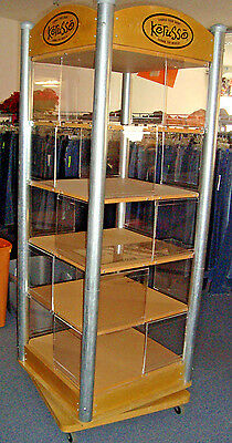 Rotating Spinning T-Shirt DISPLAY Case Holds 20 Different Designs sign panels