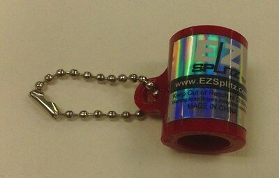 Small Red Ez Splitz Cigarillo Cigar Cutter Blunt Splitter Key Chain Original