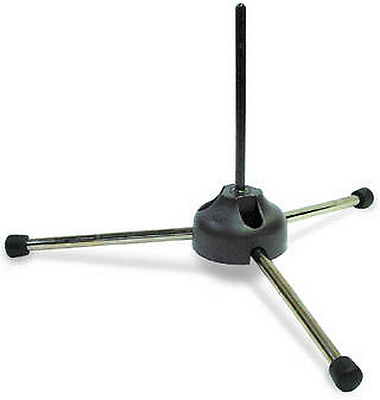 K&M 152/6 - Piccolo Stand w/ 3 Legs - Plastic & Rubber - Foldable & Sturdy Base
