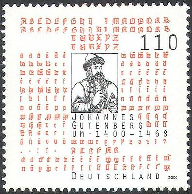 Germany 2000 Johannes Gutenberg/Bible/Printing/Books/People/Inventions 1v n42769