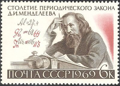 Russia 1969 Mendeleev/Scientists/Science/Chemistry/Periodic Table 1v (n34110)