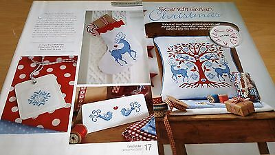 Cross Stitch Chart Scandinavian Christmas Festive Charts Set