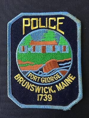 Brunswick  Maine  Police  Shoulder Patch