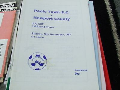 Poole Town V Newport County 1983-4 Fa Cup 1St Round