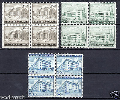 Bulgaria 1941 Architecture Buildings Bank Hospital Palace Of Justice Blocks Of 4