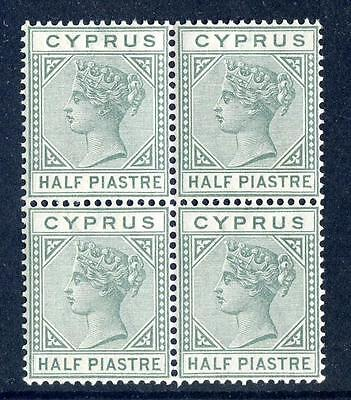 Cyprus Queen Victoria 1892-4 die 2 ½p mint unmounted block 4 (2017/06/12#18)