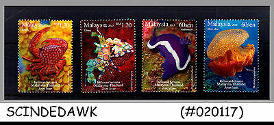 MALAYSIA - 2015 JOINT ISSUE with THAILAND / MARINE CREATURES 4V MNH