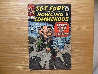 1965 Silver Age Sgt Fury & Howling Commandos #25 Signed Dick Ayers Art Wwii, Poa