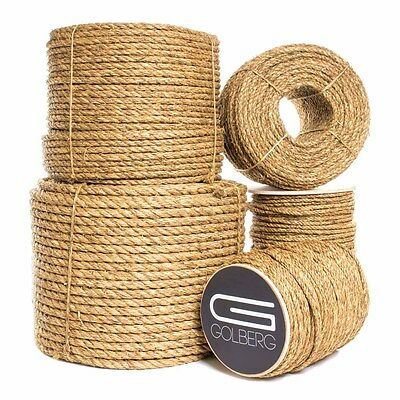Golberg 3 Strand Natural Fiber Tan Manila Rope in Various Lengths