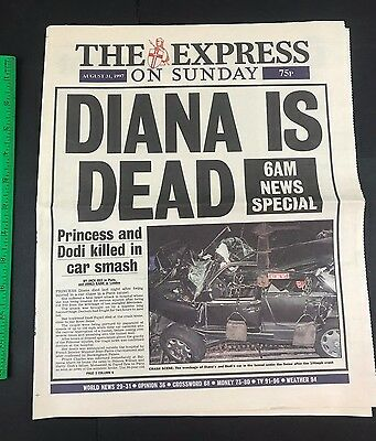 The Express on Sunday 8/31/97 6AM Special DIANA IS DEAD CAR CRASH PHOTO