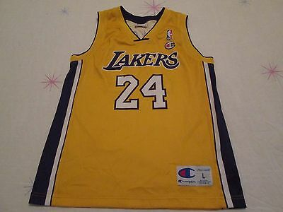 Los Angeles Lakers sleeveless shirt siz L/11e-12 years number 24 Bryant Champion