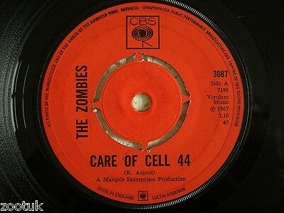 THE ZOMBIES Care Of Cell 44 / Maybe After He's CBS 1967