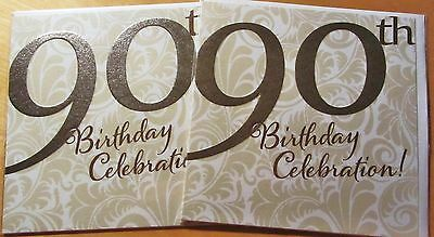 Pair of 90th contemporary Birthday Cards x 2