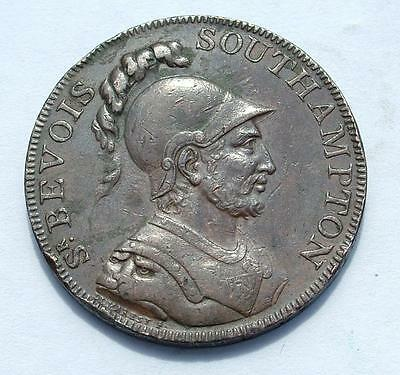 1791 Sir Bevois Southampton Copper Halfpenny Token Taylor & Moody - Lot 3