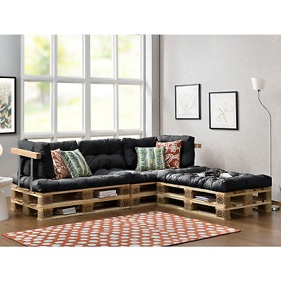 "[en.casa] ""Euro Pallets Sofa"" Set white Indoor Cushion Pad Edition Seat cushion"