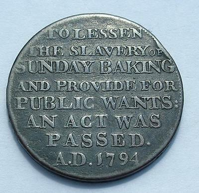"1795 Dennis ""bakers Slavery"" Sunday Baking Act Halfpenny Token - Lot 10"