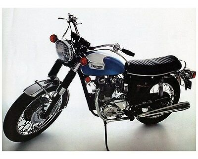 1974 Triumph Daytona 500 T100R Motorcycle Factory Photo ca6867
