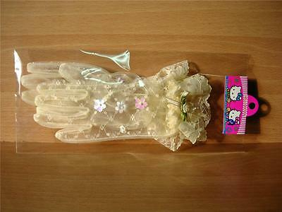 GIRLS Cream LACE GLOVES Wedding Christening Party Special Occasion Girl Clothing