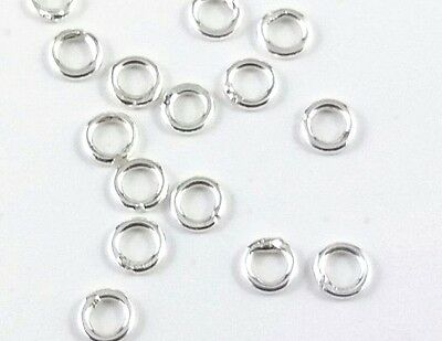 20 x Sterling Silver 3mm Shiny 925 Closed Jump Rings, 22 gauge (146)