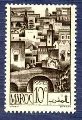French Morocco 1947-SC#221-10c THE TERRACES-MNH