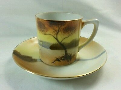 Antique Noritake Coffee Can Cup & Saucer Early 20th Century
