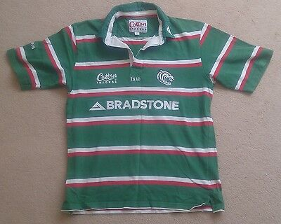 Cotton Traders Leicester Tigers Short Sleeve Rugby Shirt Medium