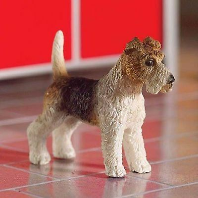Dolls House 1/12 Scale Fox Terrier Dog Resin Figure