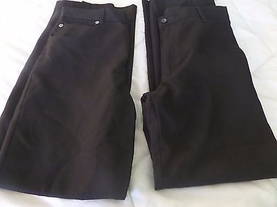 Boys Black School Uniform Trousers - Age 11-12 Years - George & M&s