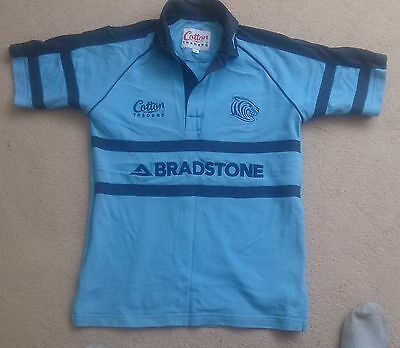 Cotton Traders Leicester Tigers Short Sleeve Rugby Training Shirt Small