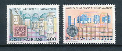 Vatican  #793-4 MNH, Museum of Stamps and Coins, 1987