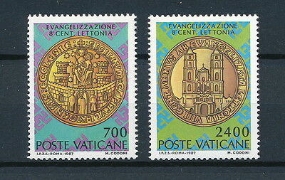 Vatican  #783-4 MNH, Christianization of Latvia, 1987