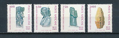 Vatican  #829a-d MNH, Egyptian Museum Artifacts, 1989