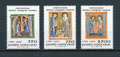 Vatican  #826-8 MNH, Vistation of Mary, 1989